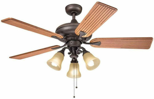 "Aztec by Kichler Lighting 35147 -  52"" Ceiling Fan with Light in Bronze Finish with Cherry Blades"