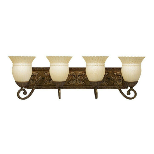 Aztec 37227 by Kichler Lighting Four Light Bath Wall Vanity Light in Bronze Finish