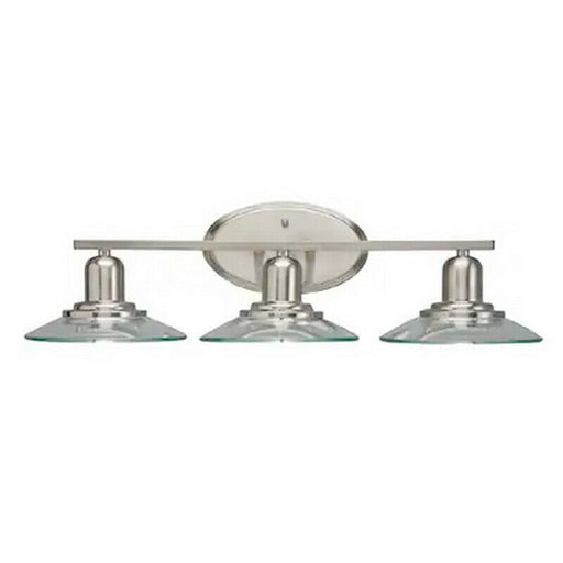 Aztec by Kichler Lighting 37245 Galileo Collection Three Light Bath Vanity Wall Mount in Brushed Nickel Finish