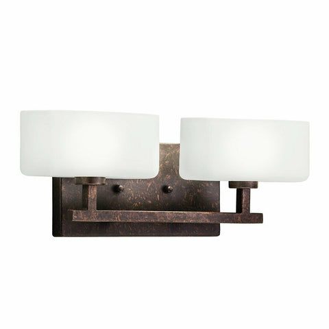 Aztec 37354 by Kichler Lighting Two Light Bath Vanity Wall Mount in Bronze Finish