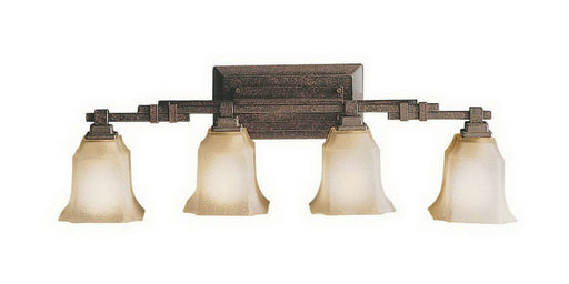 Aztec by Kichler Lighting 37923 Four Light Bath Vanity Wall Mount in Tannery Bronze Finish