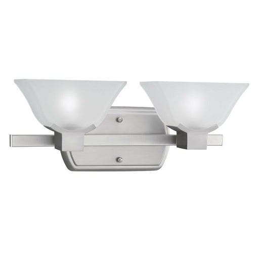 Aztec by Kichler Lighting 37946 Kinsey Collection Two Light Bath Vanity Wall Mount in Brushed Nickel Finish