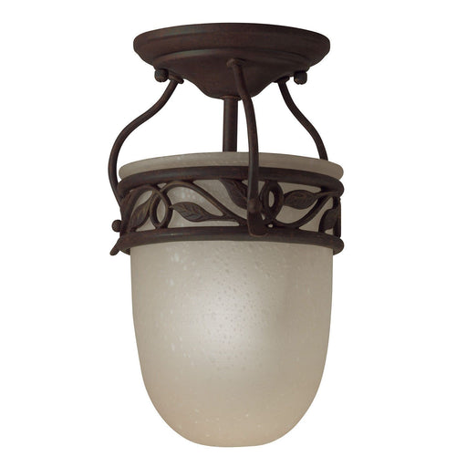 Aztec 38097 by Kichler Lighting One Light Semi Flush Ceiling Mount in Tannery Bronze Finish