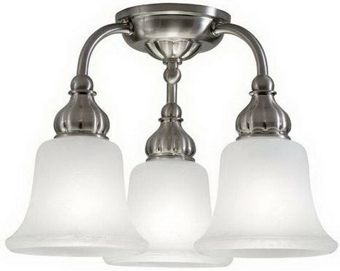 Kichler Lighting 38111 Three Light Semi Flush Ceiling Fixture in Brushed Nickel Finish
