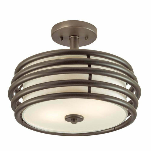 Kichler Lighting 38192 Two Light Semi Flush Ceiling Fixture in Olde Bronze Finish