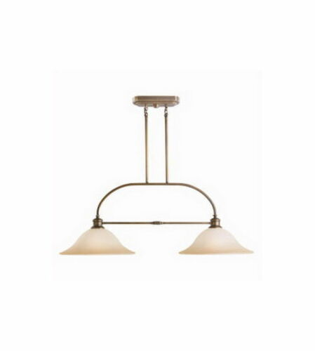 Kichler Lighting 3843 VNB Stanton Park Two Light Island Chandelier in Vintage Natural Brass Finish