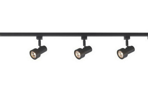 CE 38639-IL5028BK Three Light Mini Step Linear Line Voltage Track Kit with Cord and Plug in Black Finish