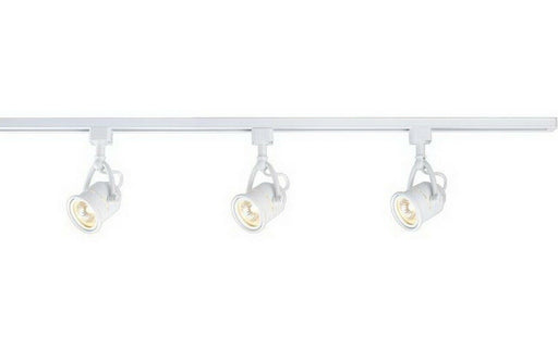 CE 38643-1028WH Three Light Retro Linear Line Voltage Track Kit with Cord and Plug in White Finish