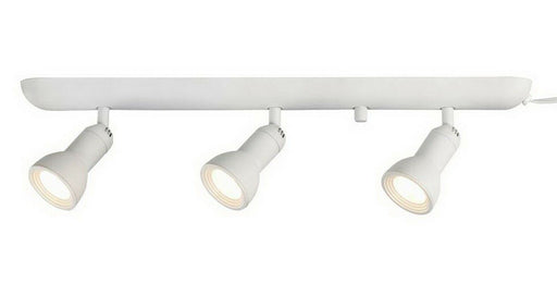 CE 38644 Three Light LED Directional Plug-in Track Lighting in White Finish