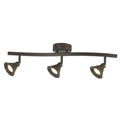 HB 38648 Three Light LED Integrated Hammered Shade Ceiling or Wall Track in Antique Bronze Finish