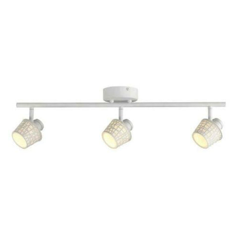 CE 38682 Three Light LED Directional Linear Semi Flush Ceiling Fixture in White Finish