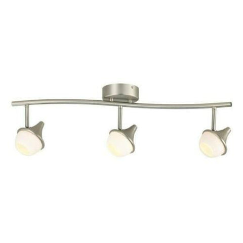 CE 38696 Three Light LED Directional Linear Semi Flush Ceiling Fixture in Brushed Nickel Finish