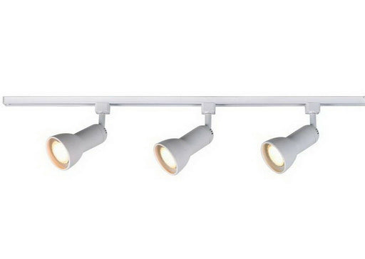 CE 38911-TP156WH Three Light Medium Step Linear Line Voltage Track Kit with Cord and Plug in White Finish