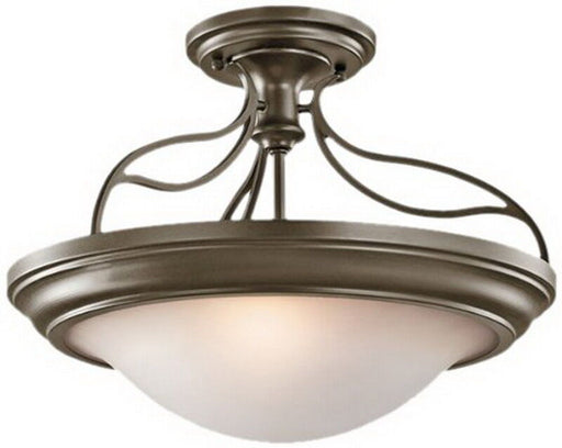Aztec 38912 by Kichler Lighting Two Light Convertible Semi Flush Ceiling or Hanging Pendant Chandelier in Shadow Bronze Finish