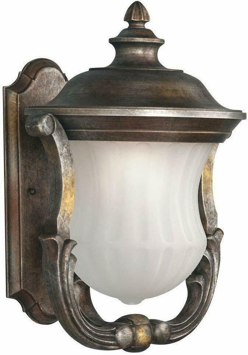 Aztec 39016 By Kichler Lighting One Light Outdoor Wall Lantern in Cambridge Bronze Finish