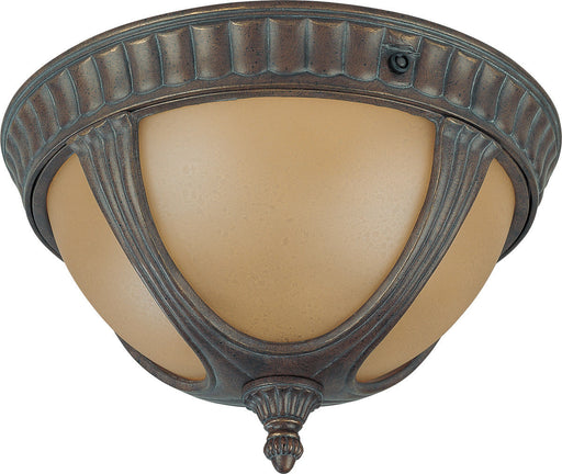 Nuvo Lighting 60-3907 Beaumont Collection Two Light Energy Star Efficient GU24 Exterior Outdoor Ceiling Fixture in Fruitwood Finish