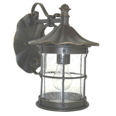 Aztec 39187 By Kichler Lighting One Light Outdoor Wall Lantern in Bronze Finish