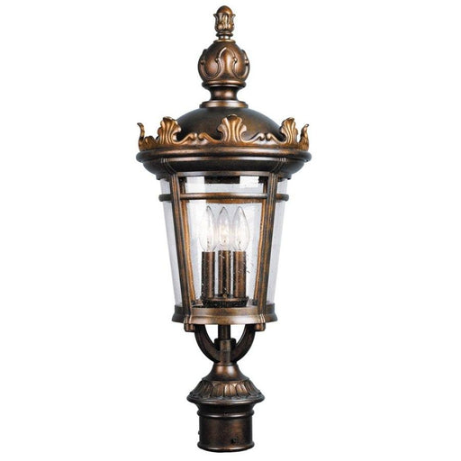 Aztec 39344 By Kichler Lighting Three Light Outdoor Post Top Lantern in Legacy Bronze Finish