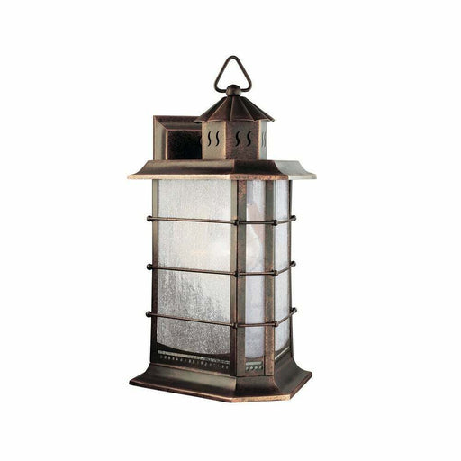 Aztec 39345 By Kichler Lighting One Light Outdoor Wall Lantern in Distressed Solid Brass Finish
