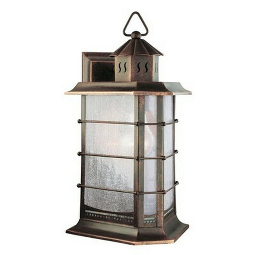 Aztec 39346 By Kichler Lighting One Light Outdoor Wall Lantern in Distressed Solid Brass Finish