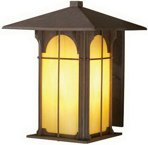 Aztec 39378 By Kichler Lighting One Light Outdoor Wall Lantern in Bronze Finish