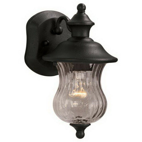 Aztec 39419 By Kichler Lighting One Light Outdoor Wall Lantern in Textured Black Finish