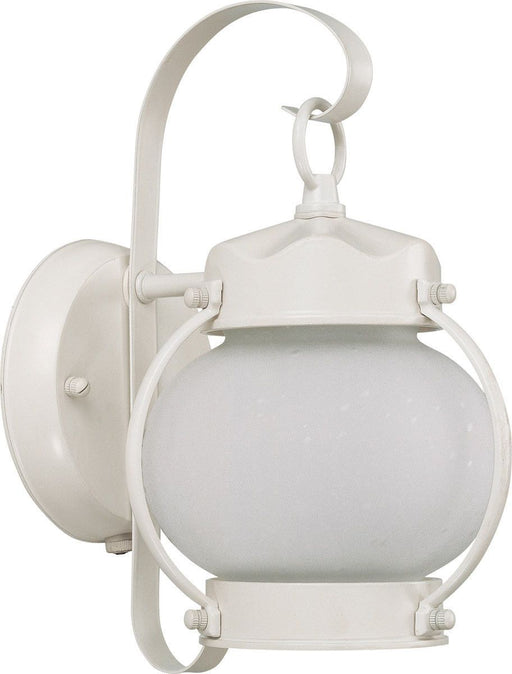 Nuvo Lighting 60-43941-LED Signature Collection One Light Exterior Outdoor Wall Lantern in White Finish