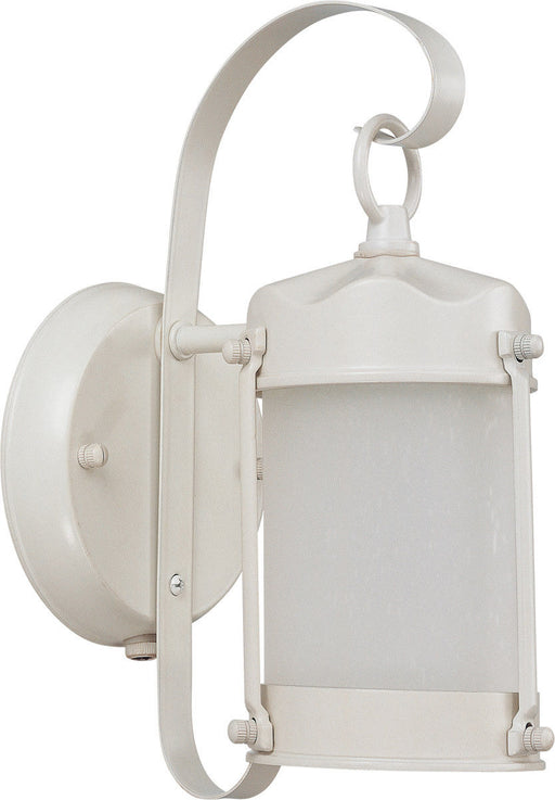 Nuvo Lighting 60-43944-LED Signature Collection One Light Exterior Outdoor Wall Lantern in White Finish