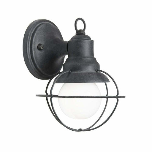 Aztec 39509 By Kichler Lighting One Light Outdoor Wall Lantern in Black Weathered Zinc Finish