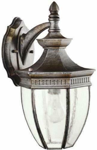 Kichler Lighting 9369 TZ Warrington Collection One Light Outdoor Exterior Wall Lantern in Tannery Bronze Finish