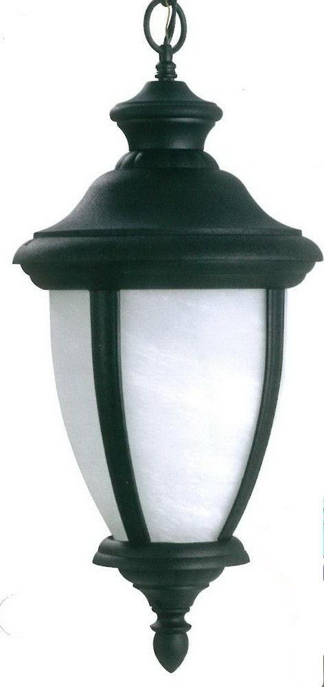 Adjustapost APX-C39HA-BLK One Light Exterior Outdoor Hanging Lantern in Black Finish