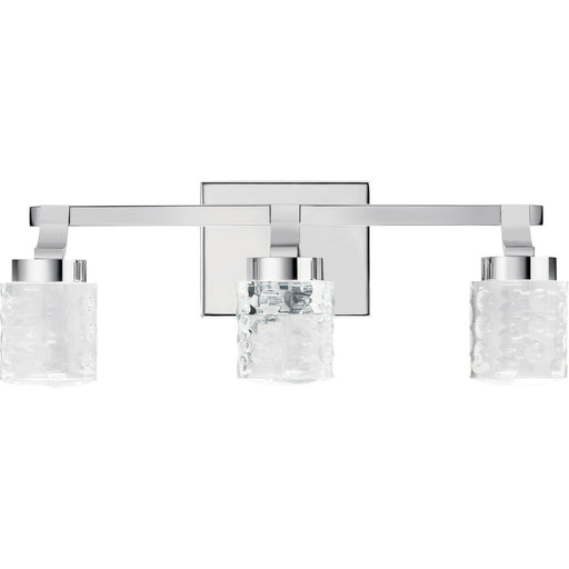 Kichler Lighting 84041 Rene Collection Three Light LED Bath Vanity Wall Mount in Polished Chrome Finish