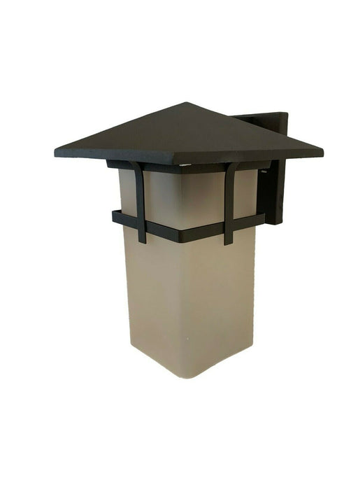 Trans Globe Lighting PL-40012 AR One Light Exterior Outdoor Wall Lantern in Antique Rust Finish