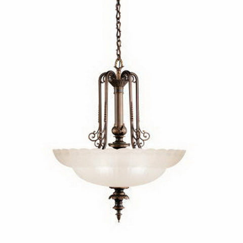 Kichler Lighting 40029 OLZ Smithsonian Collection Joseph Henry Family Six Light Hanging Pendant Chandelier in Oiled Bronze Finish