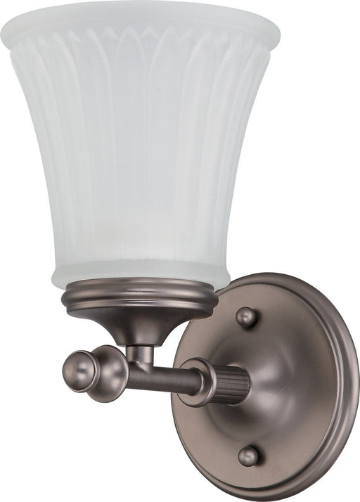 Nuvo Lighting 60-4011 Teller Collection One Light Wall Sconce in Aged Pewter Finish