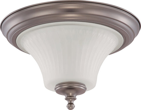 Nuvo Lighting 60-4021 Teller Collection Two Light Flush Ceiling in Aged Pewter Finish