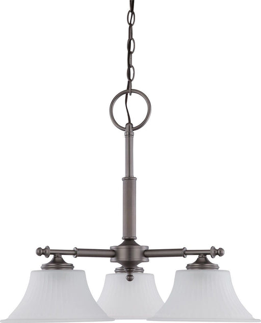 Nuvo Lighting 60-4023 Teller Collection Three Light Hanging Chandelier in Aged Pewter Finish