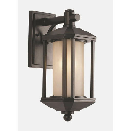 Trans Globe Lighting PL-440250 ORB-LED Downtown Trolley Collection One Light GU24 LED Outdoor Wall Mount Lantern in Rubbed Oil Bronze Finish