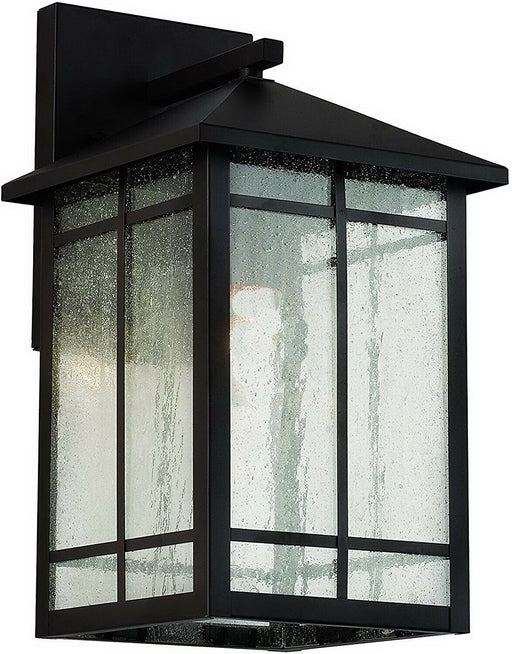 Trans Globe Lighting CB-40341-BK Capistrano Collection Integrated LED Outdoor Wall Lantern in Black Finish