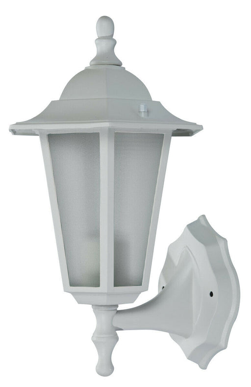 Trans Globe Lighting 4055 WH Alexander Collection One Light Outdoor Wall Lantern in White Finish