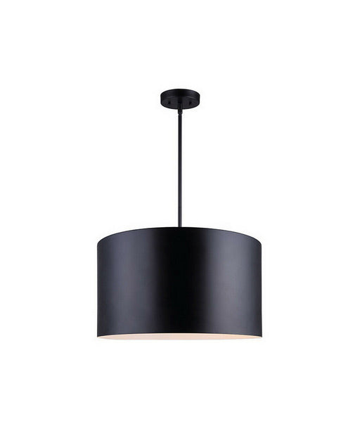 Rainbow Lighting 405B03BK20 Three Light Hanging Drum Pendant in Black Aluminum Finish