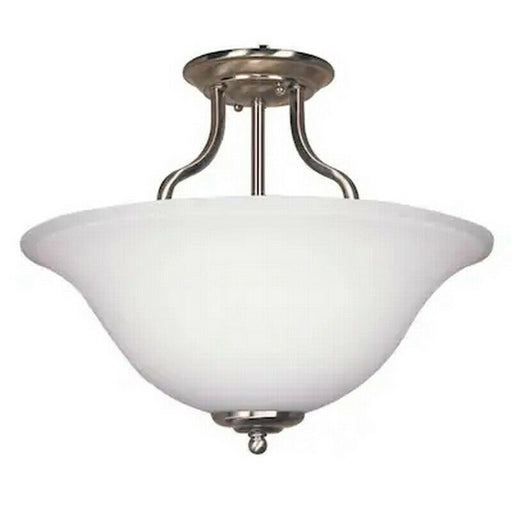 Trans Globe Lighting 143823-LED Three Light Semi Flush Ceiling Mount in Brushed Nickel Finish