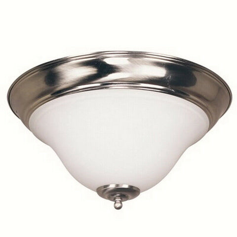Trans Globe Lighting 4149708-LED BN Two Light Flush Ceiling Fixture in Brushed Nickel Finish