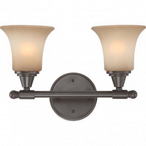 Nuvo Lighting 60-4162 Surrey Collection Two Light Bath Vanity Wall Mount in Vintage Bronze Finish