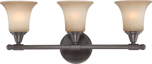 Nuvo Lighting 60-4163 Surrey Collection Three Light Bath Vanity Wall Mount in Vintage Bronze Finish