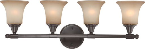 Nuvo Lighting 60-4164 Surrey Collection Four Light Bath Vanity Wall Mount in Vintage Bronze Finish