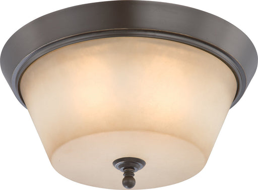 Nuvo Lighting 60-4173 Surrey Collection Three Light Flush Ceiling in Vintage Bronze Finish