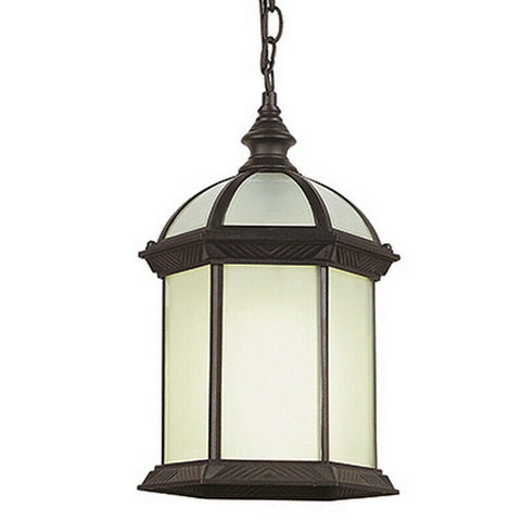 Trans Globe Lighting PL-44183RT-LED WENTWORTH II Collection One Light Outdoor Hanging Lantern in Rust Finish