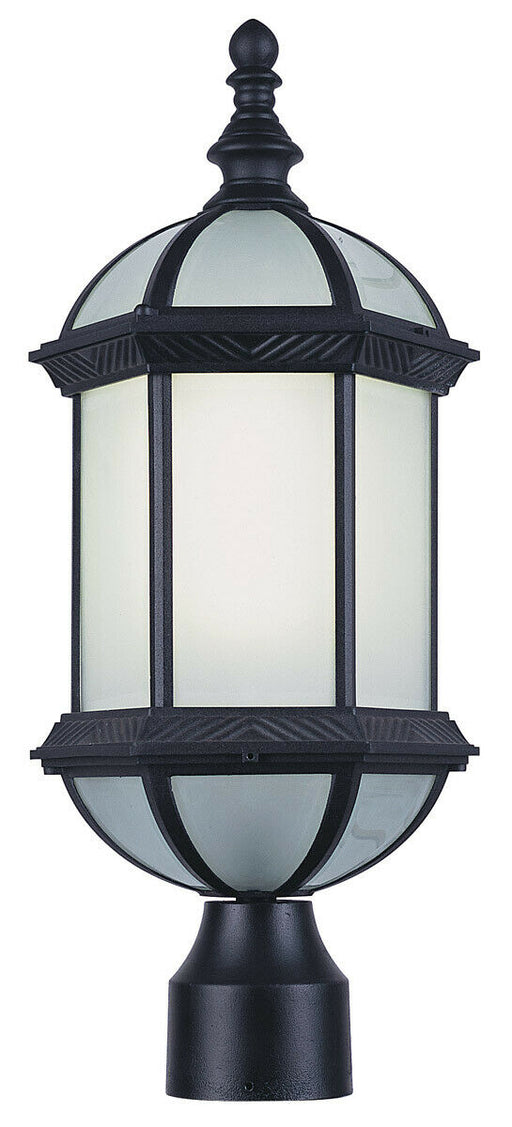 Trans Globe Lighting PL-44186BK-LED Wentworth II One Light Outdoor Exterior Post Lantern in Black Finish