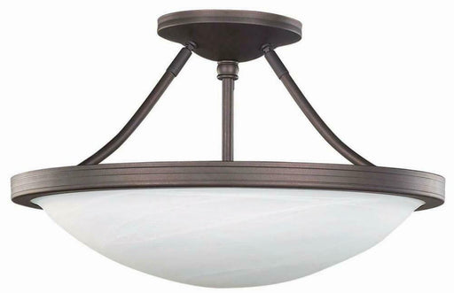 Rainbow Lighting 41 ORB Three Light Semi Flush Ceiling Mount in Oil Rubbed Bronze Finish